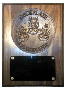 Deckplate Leadership Plaque